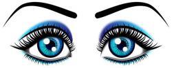 Eyelash clipart open