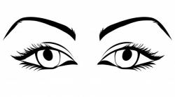 Eyelash clipart pretty eye