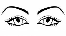 Eyelash clipart pretty eye