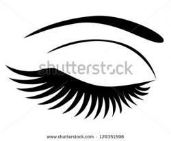 Eyelash clipart silhouette