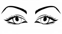 Eyelash clipart simple eye