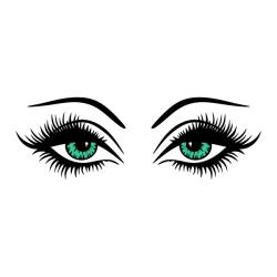 Hazel Eyes clipart long eyelash