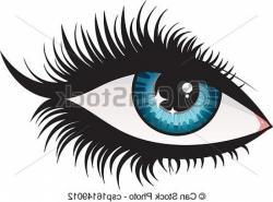 Eyelash clipart vector