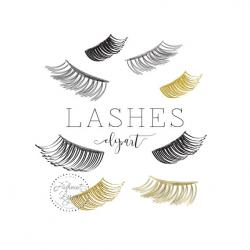 Eyelash clipart watercolor