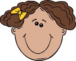 Short Hair clipart child face
