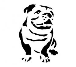 English Bulldog clipart face