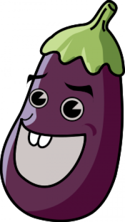 Eggplant clipart happy