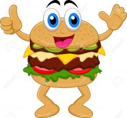 Burger clipart cartoon character