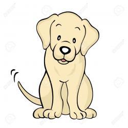 Labrador Retriever clipart dog face