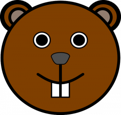 Groundhog clipart face