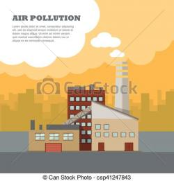 Factory clipart air pollutant