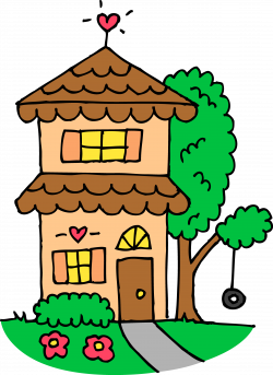 Bungalow clipart cute house