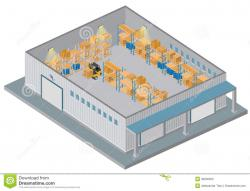 Warehouse clipart distribution center