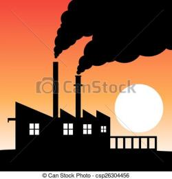 Smog clipart factory production