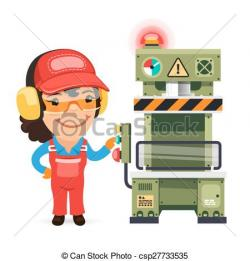 Machine clipart factory worker