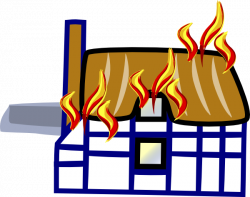 Factory clipart on fire