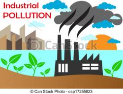 Factory clipart polluted air