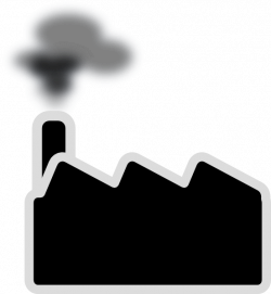 Smog clipart black and white
