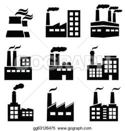 Factory clipart power plant