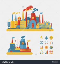 Industrial clipart flat