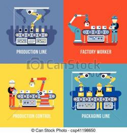 Industrial clipart factory production line