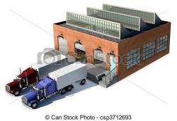 Factory clipart truck loading