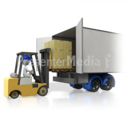 Loading clipart truck loading