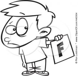 Fail clipart bad report card