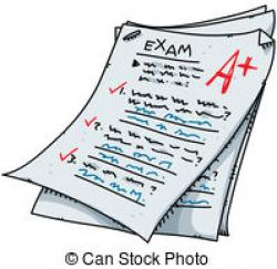 Fail clipart exam result