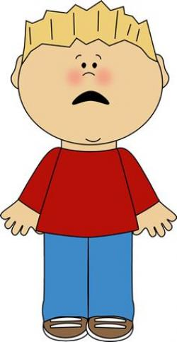 Little Boy clipart angry child
