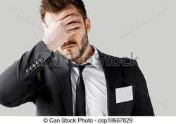 Fail clipart frustrated man