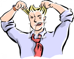 Receiver clipart frustrated man