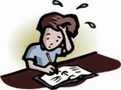 Fail clipart stressed student