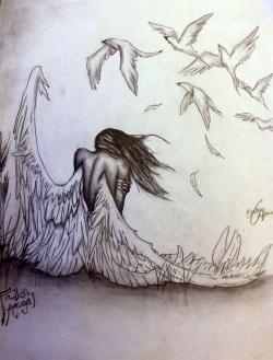 Drawn pice fallen angel