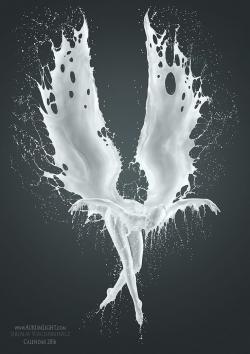 Fallen Angel clipart contemporary