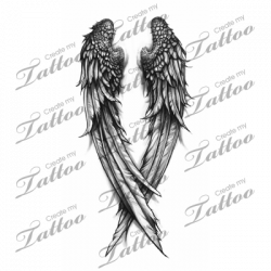 Fallen Angel clipart cross wings