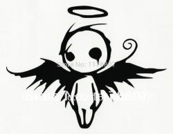 Fallen Angel clipart emblem
