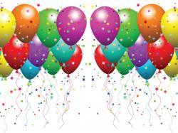 Confetti clipart balloon confetti