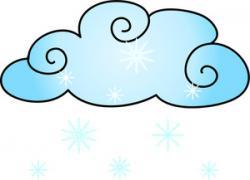 Clouds clipart snow cloud