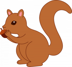 Red Squirrel clipart acorn clipart