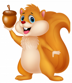 Chipmunk clipart cartoon squirrel