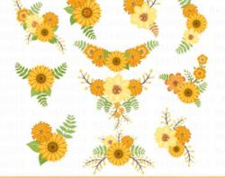Rustic clipart sunflower