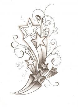 Falling Stars clipart 3d star