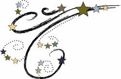 Shooting Star clipart moon star