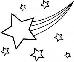 Falling Stars clipart black and white