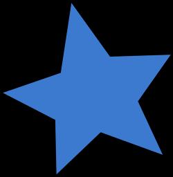 Falling Stars clipart blue star