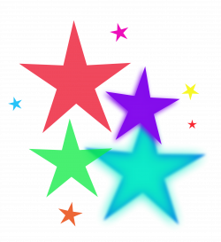 Shooting Star clipart colourful star
