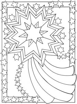 Falling Stars clipart colored