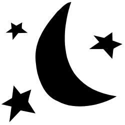 Lunar clipart silhouette