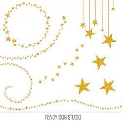 Falling Stars clipart glitter